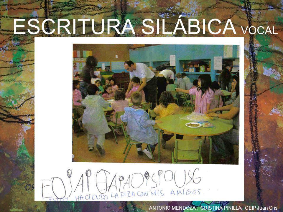 ESCRITURA SILÁBICA VOCAL