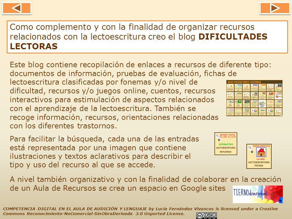 Con la misma finalidad: organizar, clasificar y facilitar un acceso rápido a recursos,he creado tres webmixes en SYMBALOO (Refuerzo Unidades Didácticas, Recursos para trabajar el Nivel Fonológico y Aprendizaje del Español como segunda lengua) SYMBALOO RECOPILACIÓN DE RECURSOS CON THINGLINK.