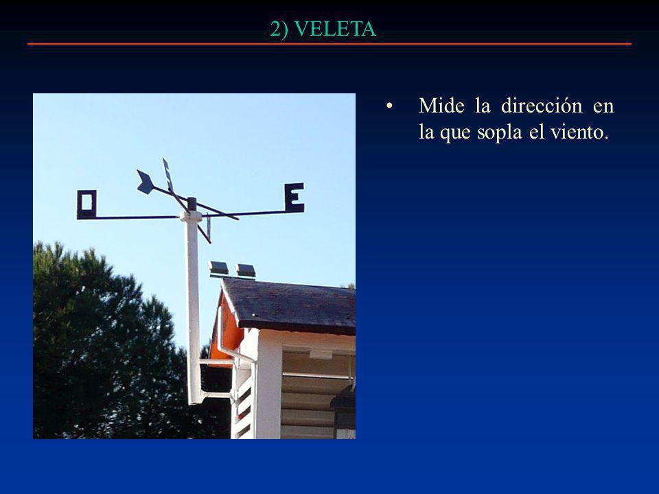 3) TERMÓMETRO DE MÁXIMAS Y MÍMIMAS Registra las temperaturas máximas y mínimas.
