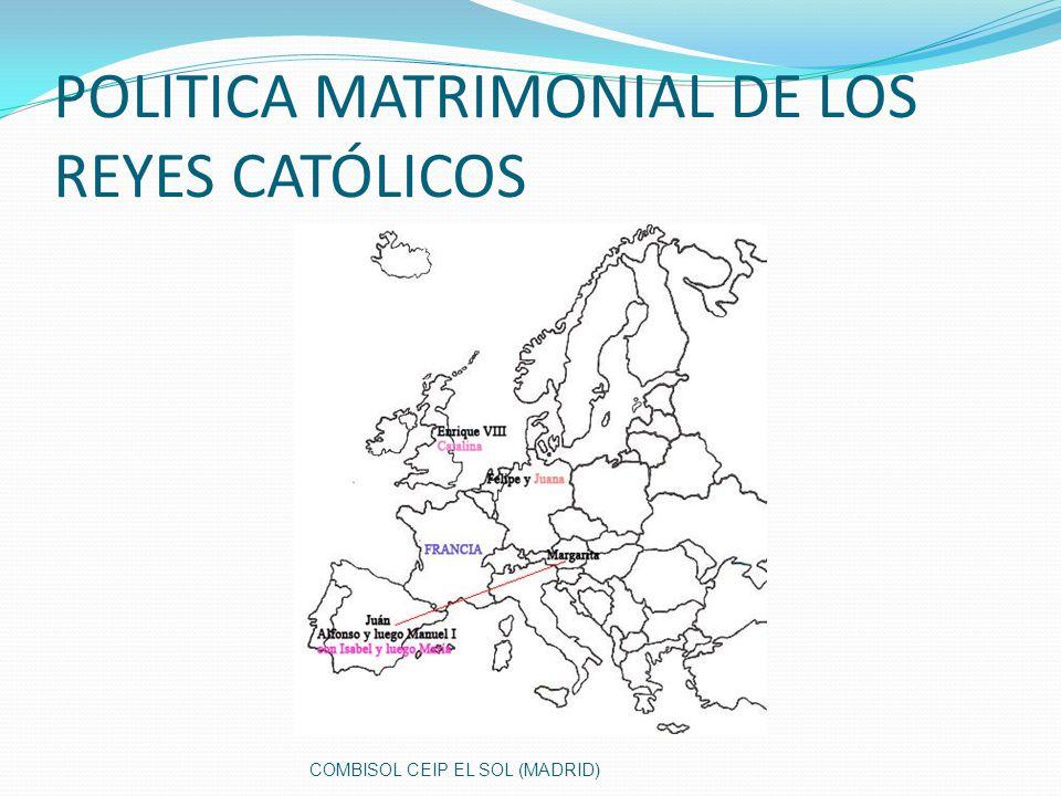 POLITICA MATRIMONIAL DE LOS REYES CATÓLICOS COMBISOL CEIP EL SOL (MADRID)