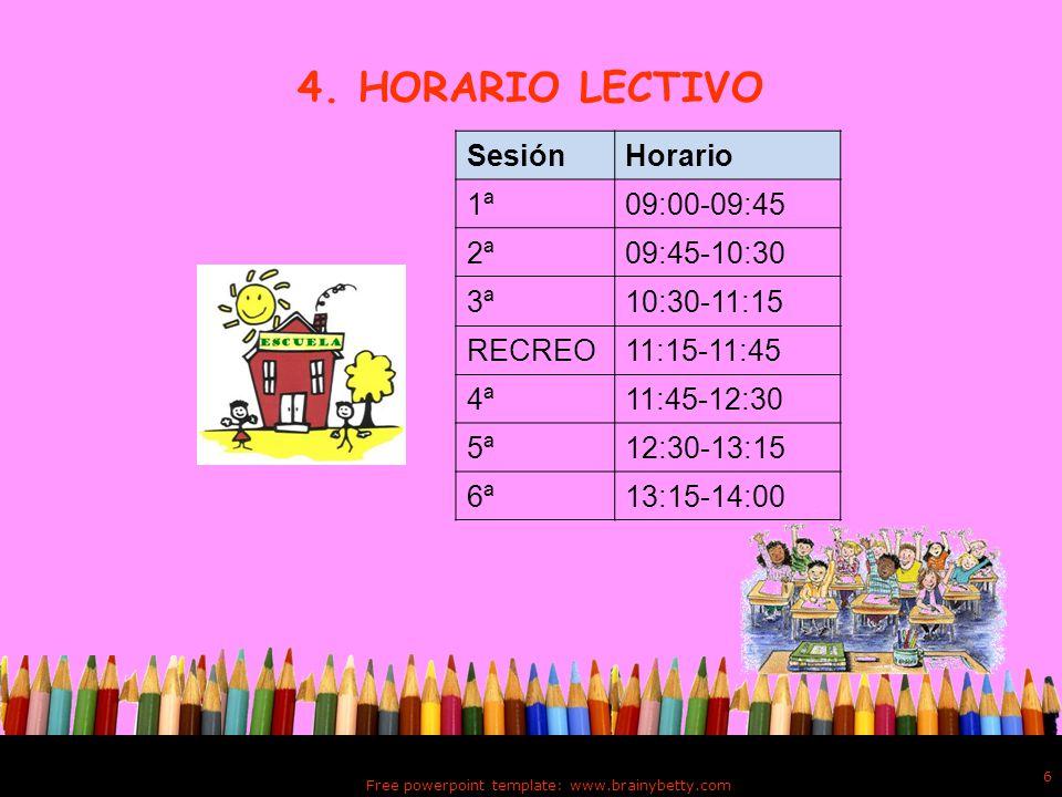 Free powerpoint template: www.brainybetty.com 6 4.