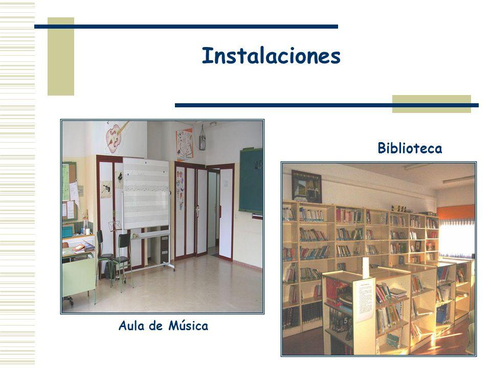 Instalaciones Aula de Música Biblioteca