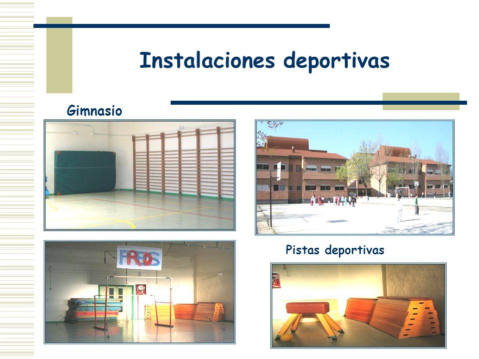 Instalaciones deportivas Gimnasio Pistas deportivas