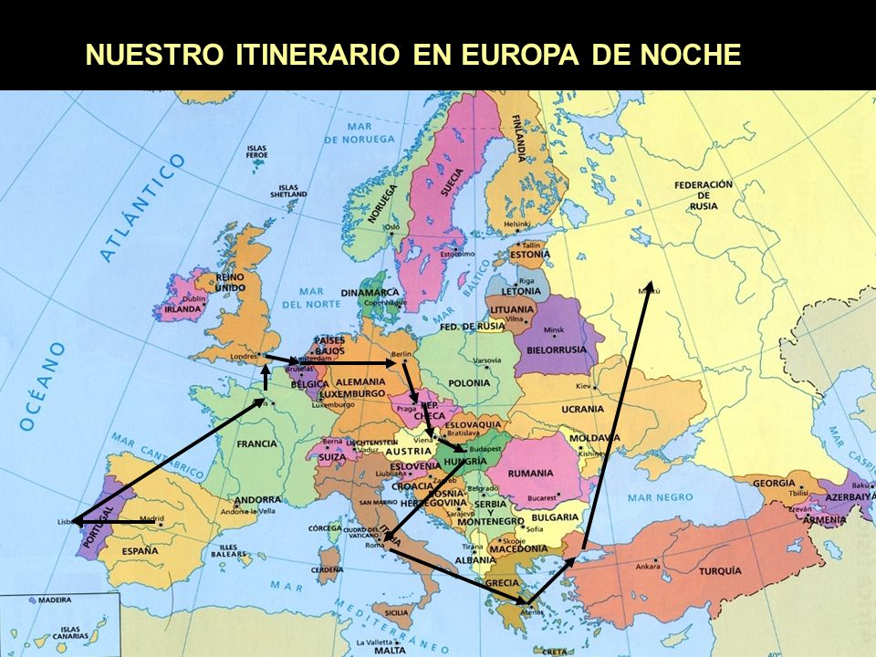 Europa de noche Poned sonido
