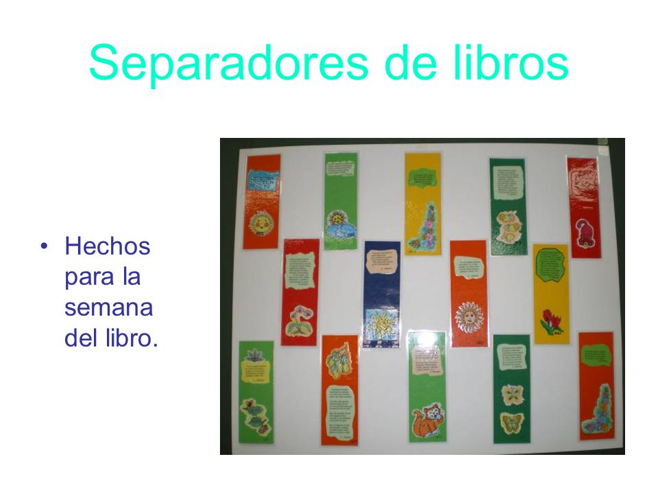 Separadores de libros Hechos para la semana del libro.