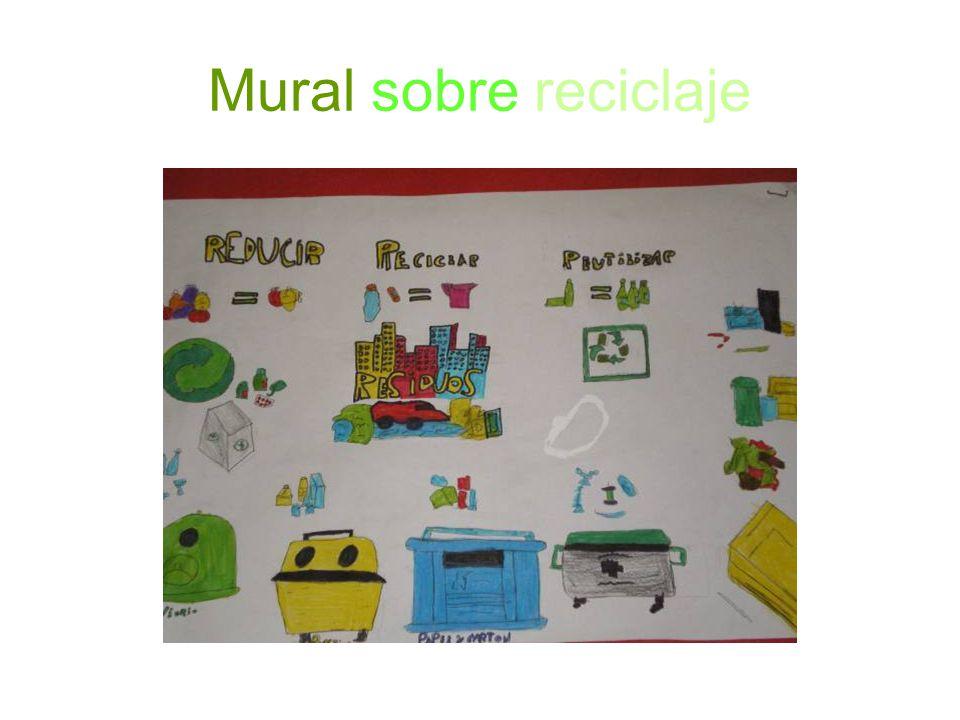Mural sobre reciclaje