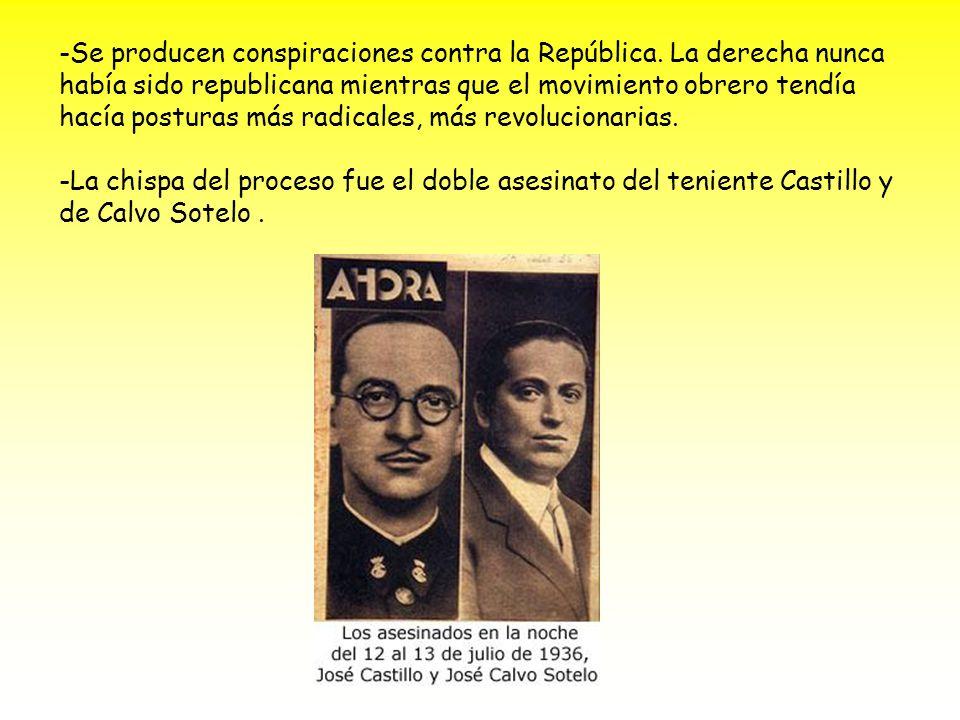 -Se producen conspiraciones contra la República.