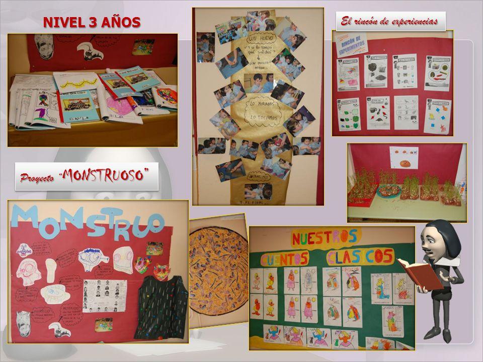 Proyecto MONSTRUOSO El rincón de experiencias NIVEL 3 AÑOS