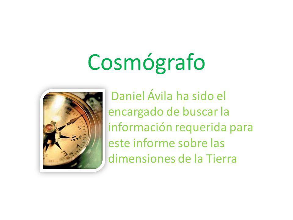 Cosmógrafo Daniel Ávila ha sido el encargado de buscar la información requerida para este informe sobre las dimensiones de la Tierra