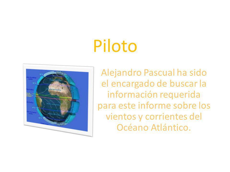Piloto Alejandro Pascual ha sido el encargado de buscar la información requerida para este informe sobre los vientos y corrientes del Océano Atlántico