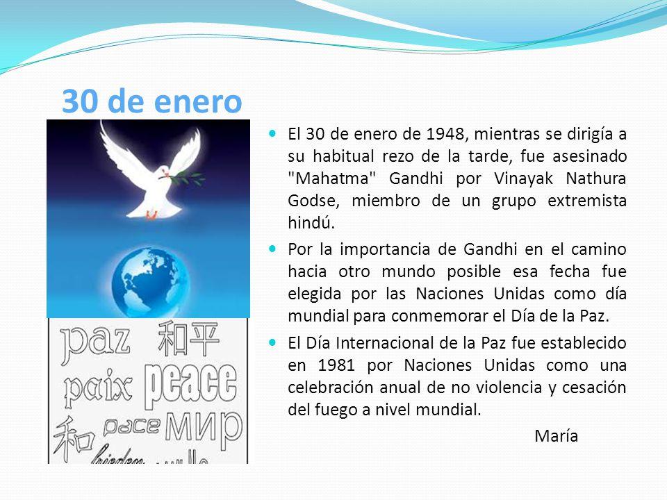 GANDHI No hay camino para la paz, la paz es el camino.