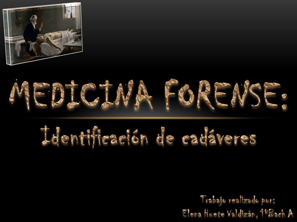 Introducción (pág.3) ¿Qué es la medicina forense.