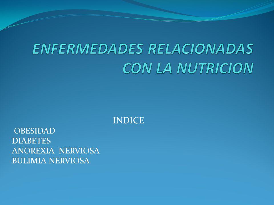 INDICE OBESIDAD DIABETES ANOREXIA NERVIOSA BULIMIA NERVIOSA