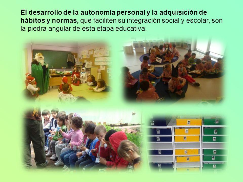 EDUCACIÓN INFANTIL 6 grupos y 9 maestras: 6 maestras tutoras 1 maestra de apoyo que imparte Psicomotricidad e Informática 1 maestra especialista de In