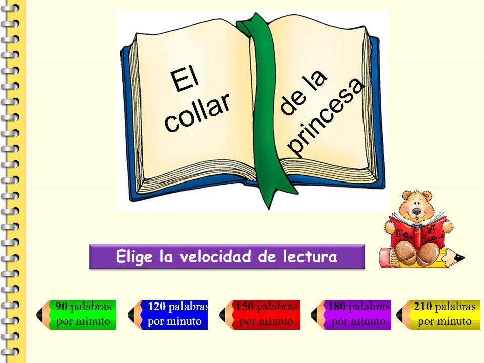Elige la velocidad de lectura 90 palabras por minuto 120 palabras por minuto 150 palabras por minuto 180 palabras por minuto 210 palabras por minuto E