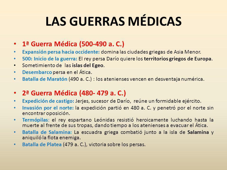 LAS GUERRAS MÉDICAS 1ª Guerra Médica (500-490 a.