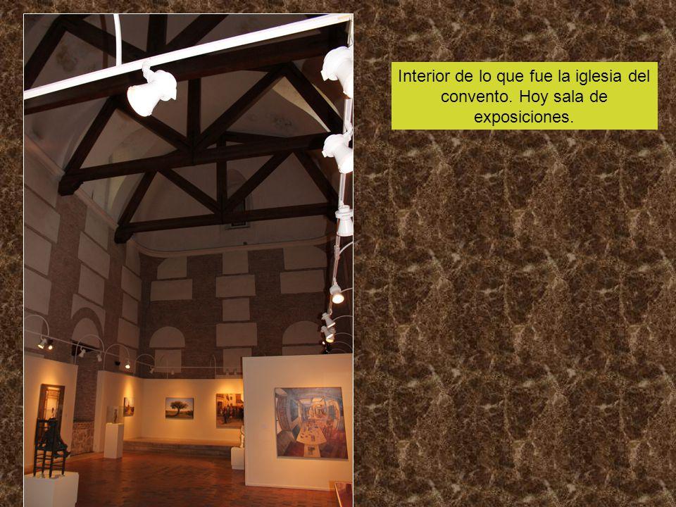 Interior de lo que fue la iglesia del convento. Hoy sala de exposiciones.