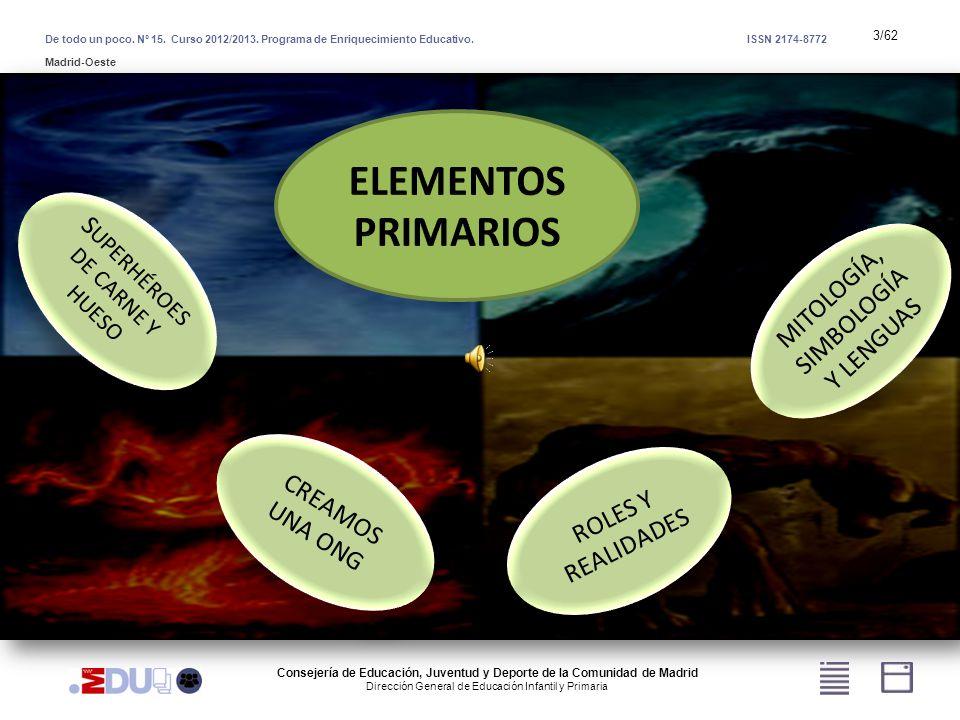 3/62 S UPERHÉROES DE CARNE Y HUESO CREAMOS UNA ONG MITOLOGÍA, SIMBOLOGÍA Y LENGUAS ROLES Y REALIDADES De todo un poco. Nº 15. Curso 2012/2013. Program