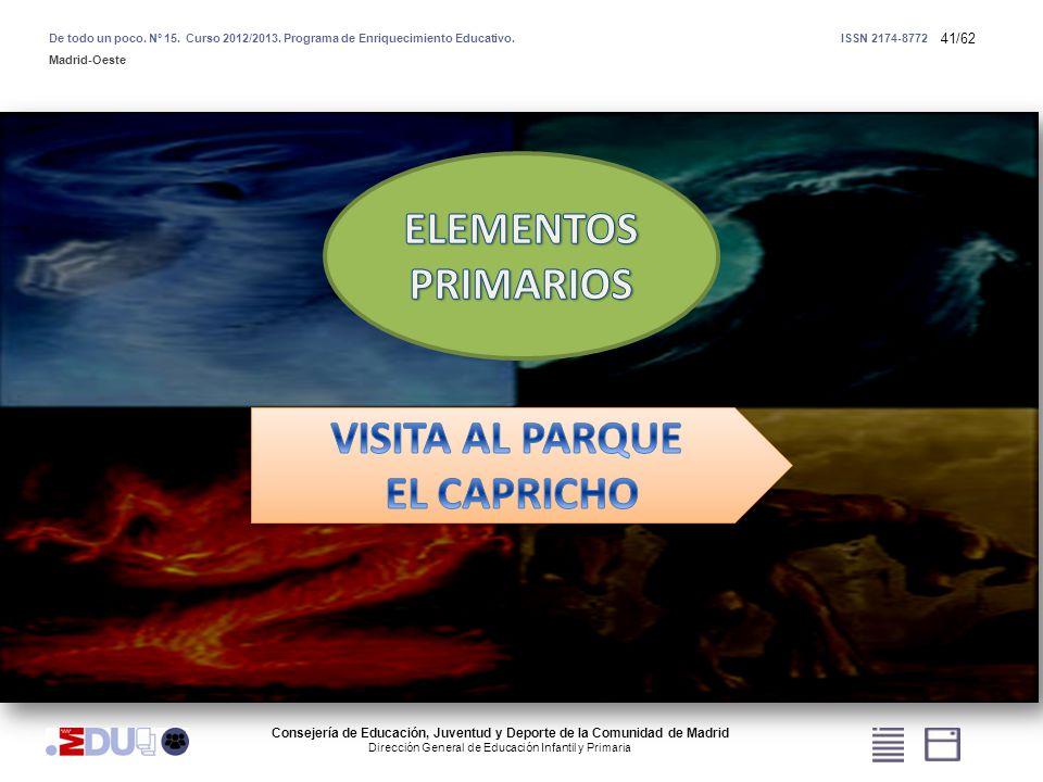 41/62 Consejería de Educación, Juventud y Deporte de la Comunidad de Madrid Dirección General de Educación Infantil y Primaria De todo un poco. Nº 15.