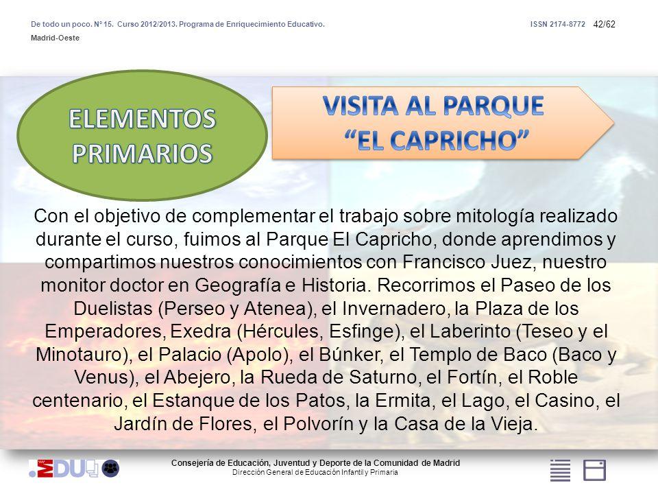42/62 Consejería de Educación, Juventud y Deporte de la Comunidad de Madrid Dirección General de Educación Infantil y Primaria De todo un poco. Nº 15.