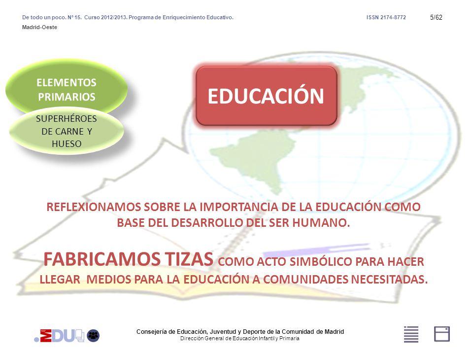 16/62 SUPERHÉROES DE CARNE Y HUESO VIENTO Consejería de Educación, Juventud y Deporte de la Comunidad de Madrid Dirección General de Educación Infantil y Primaria De todo un poco.