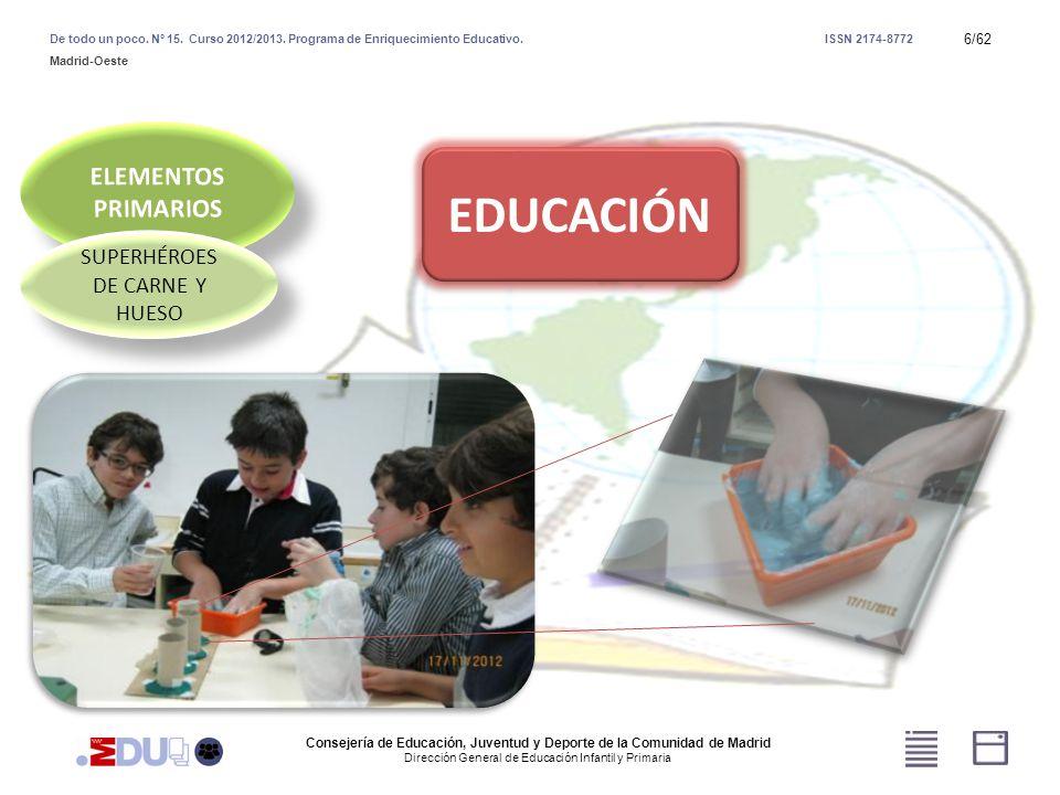 37/62 ROLES Y REALIDADES Consejería de Educación, Juventud y Deporte de la Comunidad de Madrid Dirección General de Educación Infantil y Primaria De todo un poco.