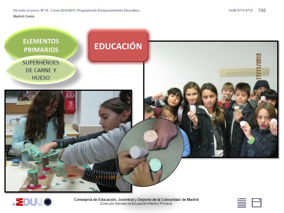 58/62 HORNO SOLAR EXPERTOS EN ENERGÍA SOLAR Consejería de Educación, Juventud y Deporte de la Comunidad de Madrid Dirección General de Educación Infantil y Primaria De todo un poco.