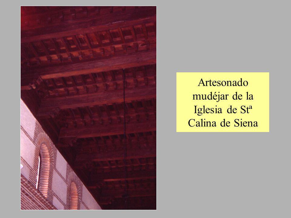 Artesonado mudéjar de la Iglesia de Stª Calina de Siena