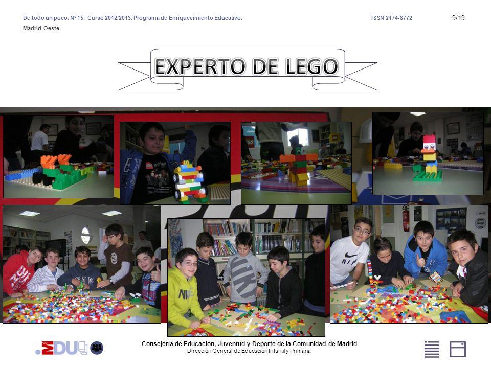 Consejería de Educación, Juventud y Deporte de la Comunidad de Madrid Dirección General de Educación Infantil y Primaria De todo un poco.