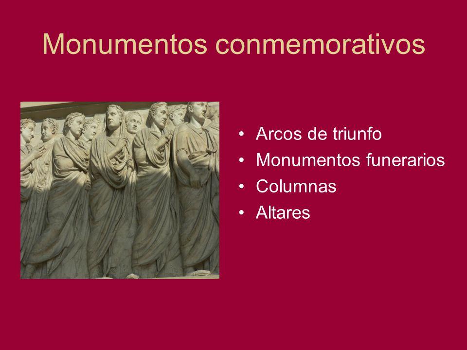Monumentos conmemorativos Arcos de triunfo Monumentos funerarios Columnas Altares