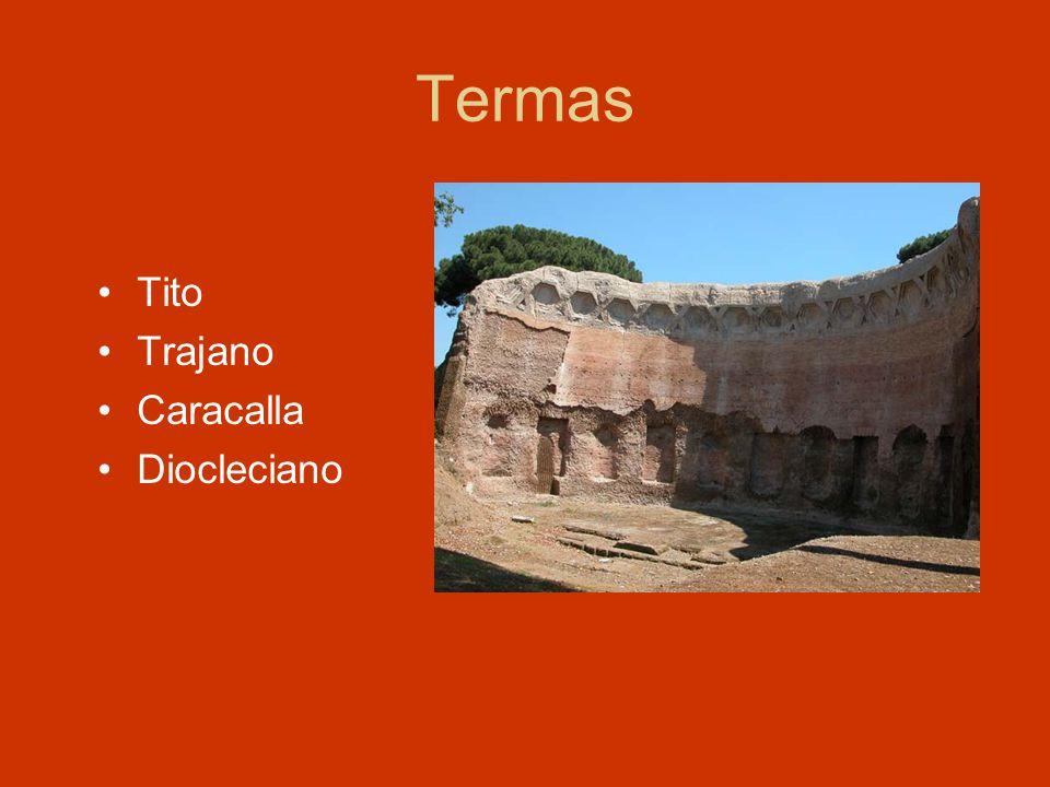 Termas Tito Trajano Caracalla Diocleciano
