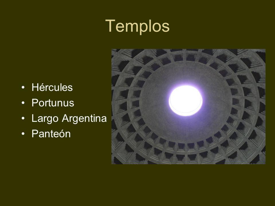 Templos Hércules Portunus Largo Argentina Panteón