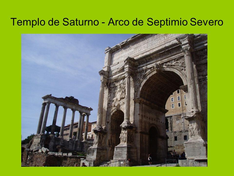 Templo de Saturno - Arco de Septimio Severo