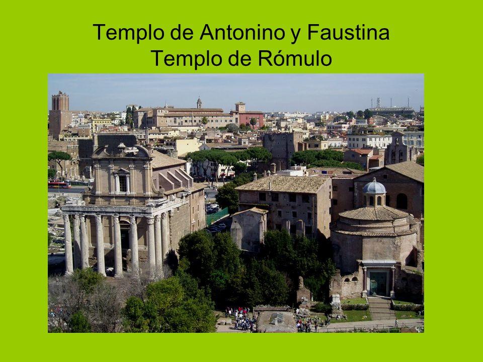 Templo de Antonino y Faustina Templo de Rómulo