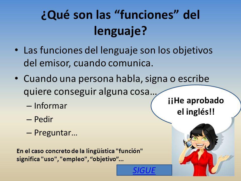 ¿Qué son las funciones del lenguaje.