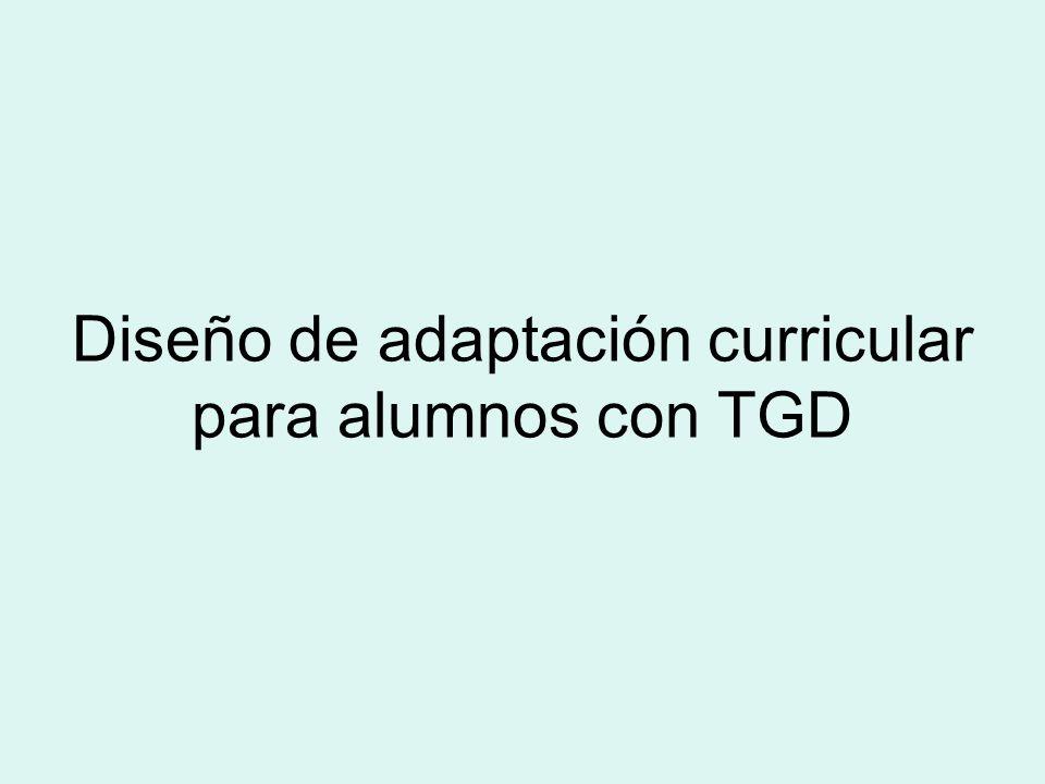Diseño de adaptación curricular para alumnos con TGD