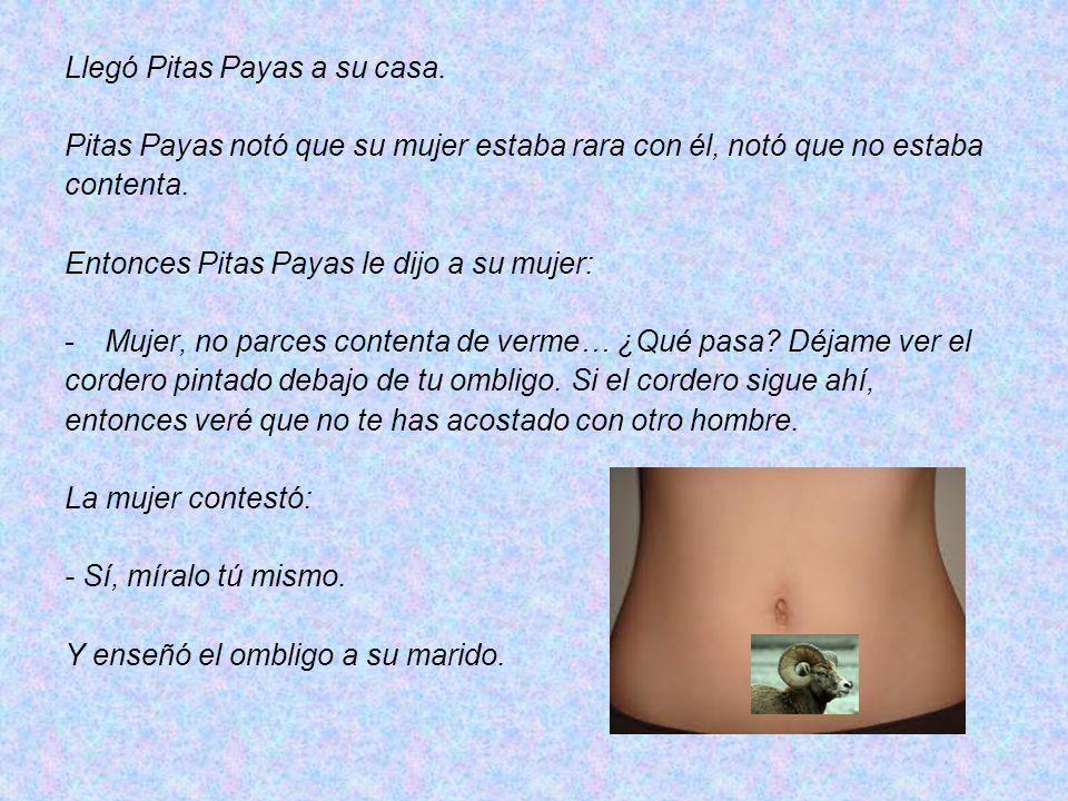 Llegó Pitas Payas a su casa.