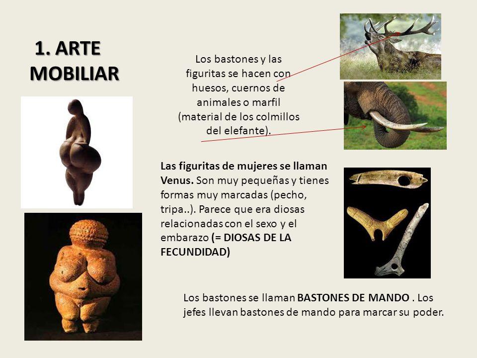 Los bastones y las figuritas se hacen con huesos, cuernos de animales o marfil (material de los colmillos del elefante). Las figuritas de mujeres se l