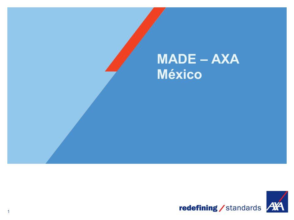 1 Encombrement maximum du logotype depuis le bord inférieur droit de la page (logo placé à 1/3X du bord; X = logotype) MADE – AXA México