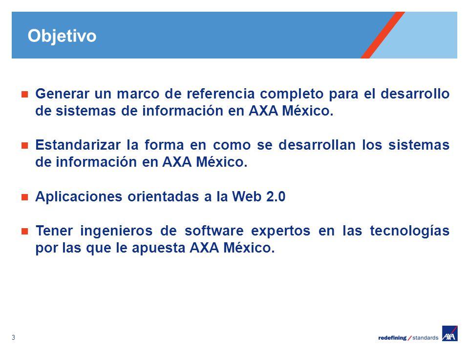Pour personnaliser le pied de page « Lieu - date »: Affichage / En-tête et pied de page Personnaliser la zone date et pieds de page, Cliquer sur appliquer partout Encombrement maximum du logotype depuis le bord inférieur droit de la page (logo placé à 2/3X du bord; X = logotype) 3 Generar un marco de referencia completo para el desarrollo de sistemas de información en AXA México.