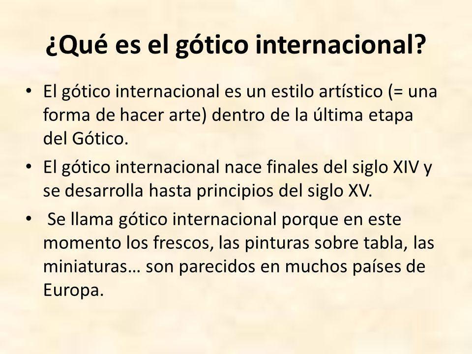 ¿Cómo nace el gótico internacional.