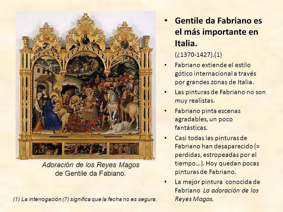 En España hay muchos pintores interesantes del gótico internacional.