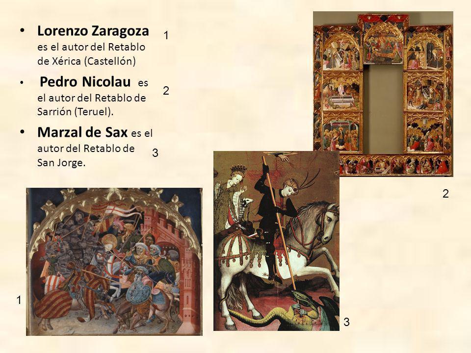 En la escuela catalana los pintores más interesantes son: Lluís Borrassá (1360(?), autor del Retablo e Santa Clara, del Retablo de San Pedro y del Retablo de Guardiola (Barcelona).