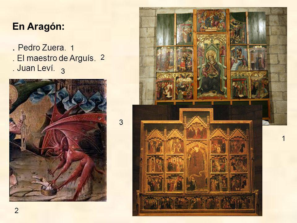 También trabajaron en España algunos pintores extranjeros como los florentinos (= de Florencia, en Italia): Gherardo Starnina y Nicolás de Antonio.