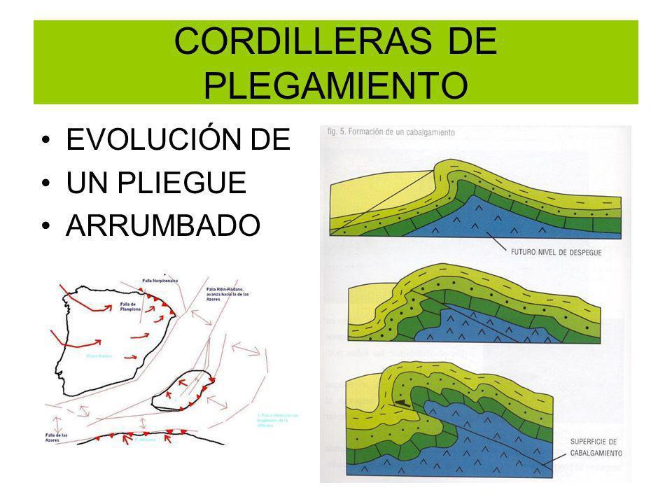 CORDILLERAS DE PLEGAMIENTO EVOLUCIÓN DE UN PLIEGUE ARRUMBADO