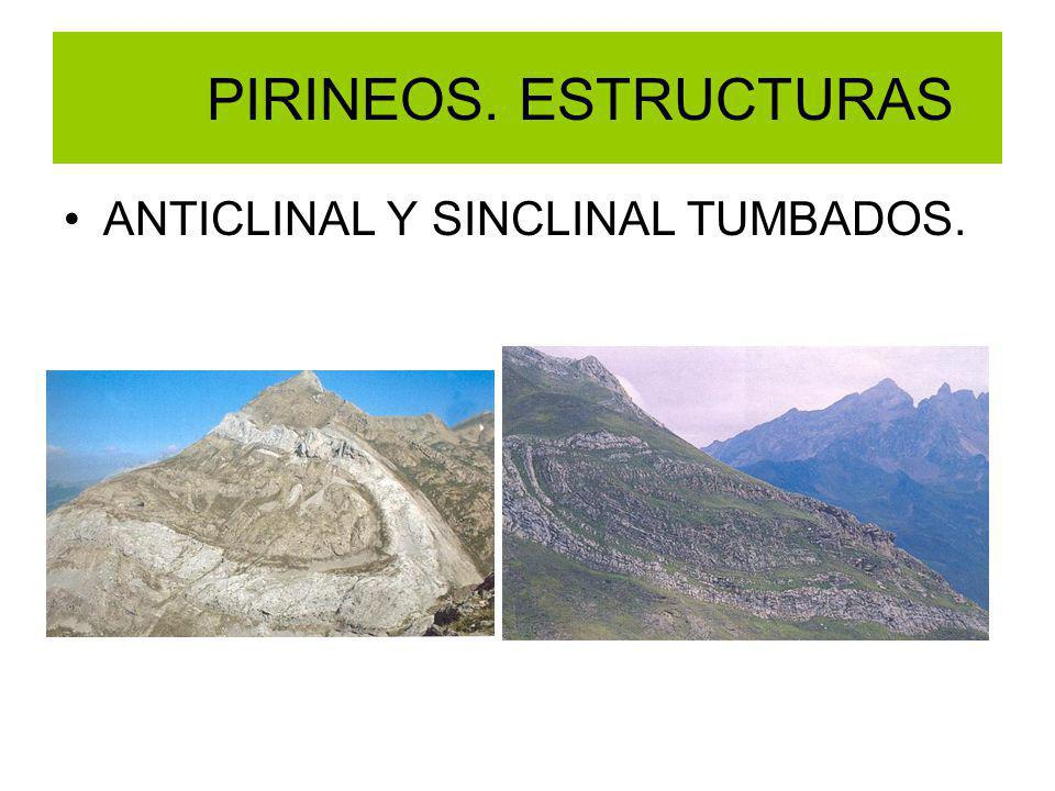 PIRINEOS. ESTRUCTURAS ANTICLINAL Y SINCLINAL TUMBADOS.