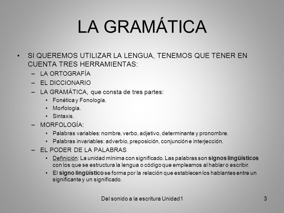LÉXICO EL SIGNIFICANTE corresponde a la sucesión de las letras empleadas en la lengua oral o escrita para crear la palabra.