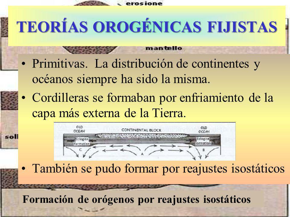 TEORÍAS OROGÉNICAS FIJISTAS Primitivas.