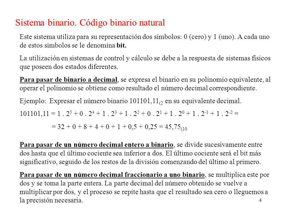 4 Sistema binario.