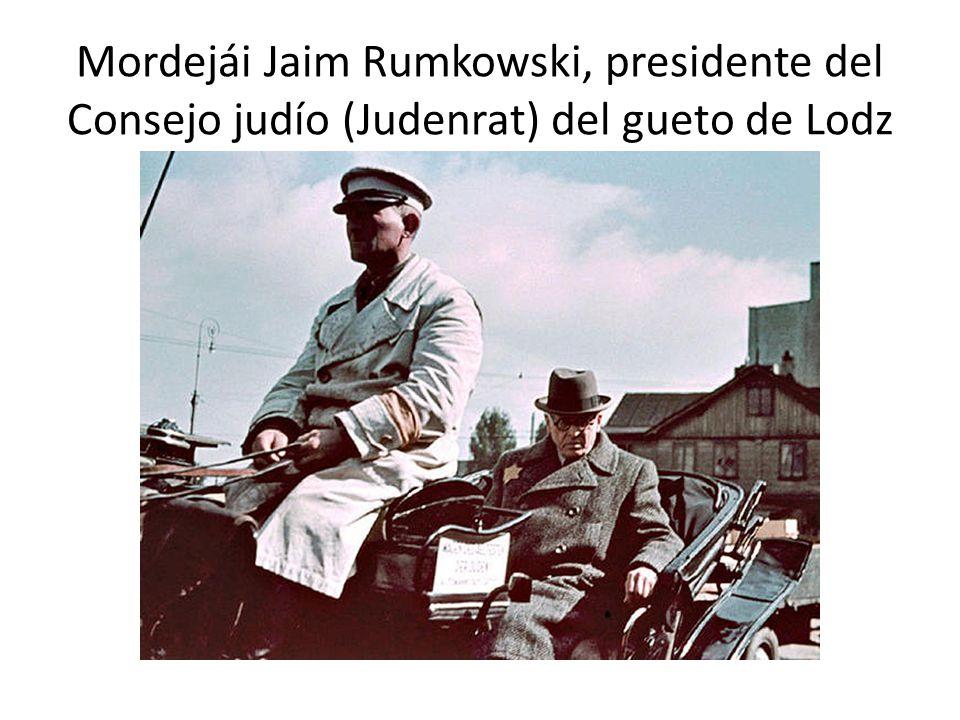 Mordejái Jaim Rumkowski, presidente del Consejo judío (Judenrat) del gueto de Lodz